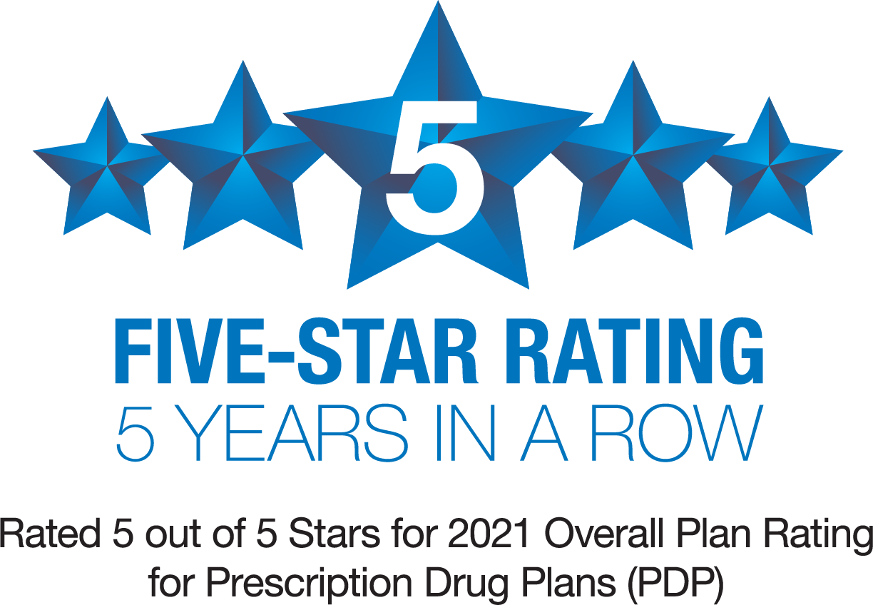 5 star overall plan rating from Medicare